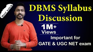 Lec-1: DBMS Syllabus Discussion for GATE and UGC NET