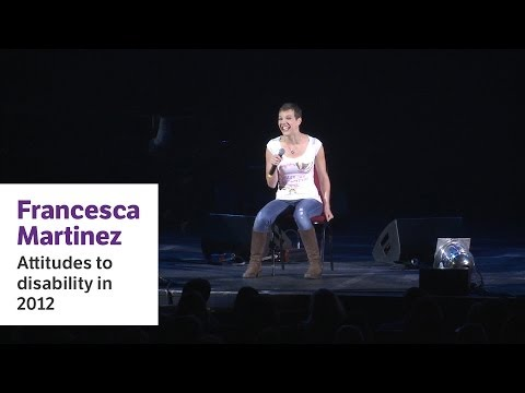 Screenshot for video: Francesca Martinez -Attitudes towards disability