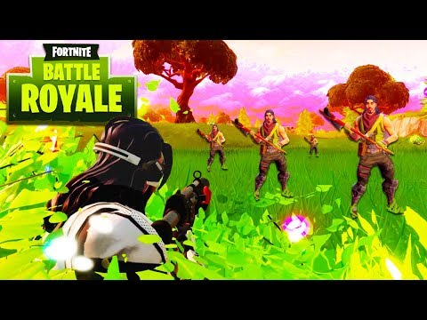 THEY WE'RE ALL STANDING STILL... *wtf* (Fortnite: Battle Royale Funny Moments)