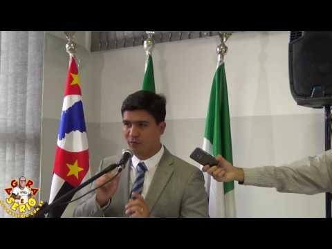 Arizinho é Diplomado e faz o seu primeiro discurso