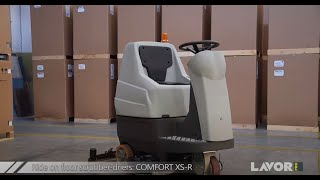 Ride-On Floor Scrubber Drier Comfort XS-R LavorPro Made In Italy