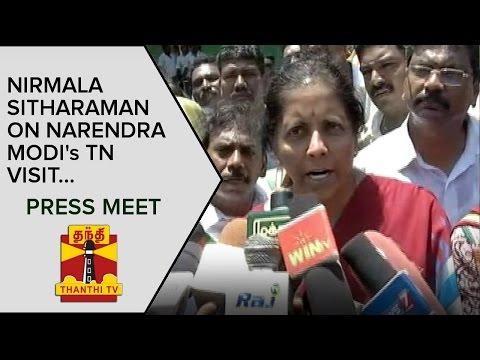 Nirmala-Sitharaman-on-Narendra-Modis-Tamil-Nadu-Visit-Press-Meet--Thanthi-TV