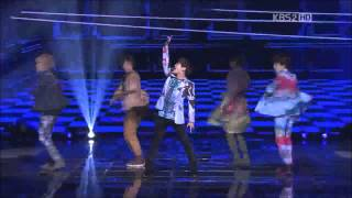 121228 SHINee- Accident pants of Taemin @ KBS Gayo Daejun 2012