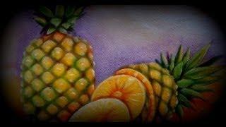 Como Pintar Abacaxi na Pintura em Tecido