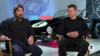 Christian Bale and Matt Damon talk Ford v Ferrari