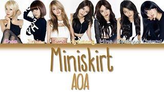 AOA (에이오에이) - Miniskirt (짧은 치마)   Han/Rom/Eng   Color Coded Lyrics  