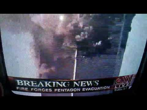 9 11 real-time recording of Live coverage VHS