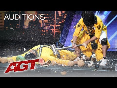 This Danger Act From India Will SCARE You With A SMASH! - America's Got Talent 2019 (видео)