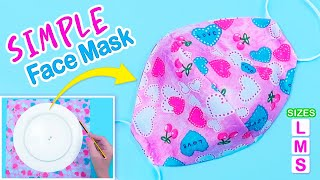 How to Make Face Mask at Home | Face Mask Without Sewing Machine | Easy Face Mask Pattern