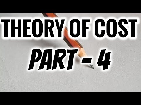 THEORY OF COST IN ECONOMICS | PART 4