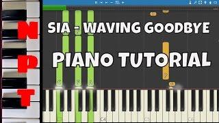 Sia - Waving Goodbye - Piano Tutorial - Neon Demon Soundtrack
