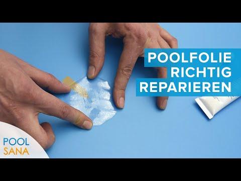 Schwimmbad Folie flicken - So reparieren Sie undichte Stellen Ihrer Pool Innenhülle | POOLSANA