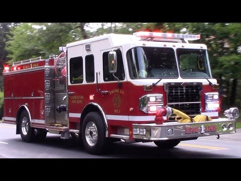 Livingston Fire Department BRAND NEW Engine 1 And Chief Responding 7-11-18