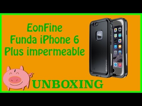 Unboxing Eonfine Funda impermeable iPhone 6 plus barata