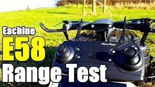 Eachine E58 Drone Range Test How far will it go? and The Wifi FPV