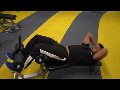 Weighted Side/Twisting/Oblique Crunches on Decline bench