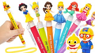 Let's play with Baby Shark & Pororo and Disney Princess Ballpoint Pen! | PinkyPopTOY