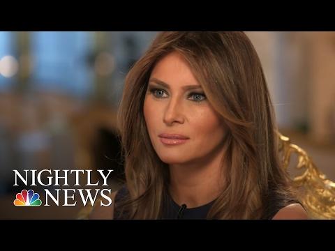 Melania Trump On Husband's Controversial Immigration Rhetoric   NBC Nightly News