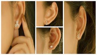 Latest Daily Wear Gold & Diamond Earrings Designs | Diamond Stud Earrings