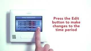 Changing a Set Point Temperature on the Carrier SmartTemp Thermostat