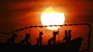 Partial solar eclipse observed in N China