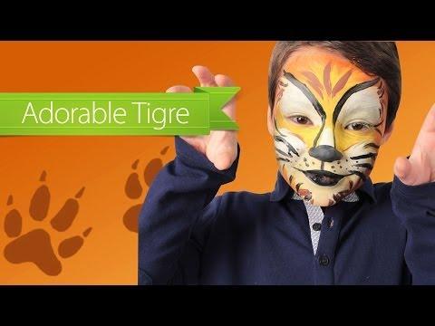 Maquillage de tigre pour Carnaval