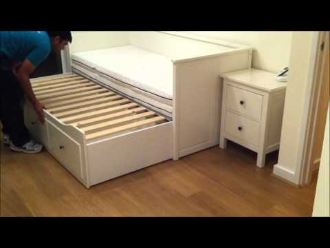 IKEA Hemnes Day-bed Trundle Guest Bed, Stolmen Storage Design – Before & After.