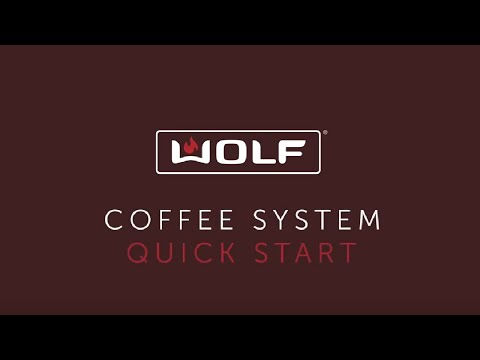 Wolf Coffee System - Quick Start
