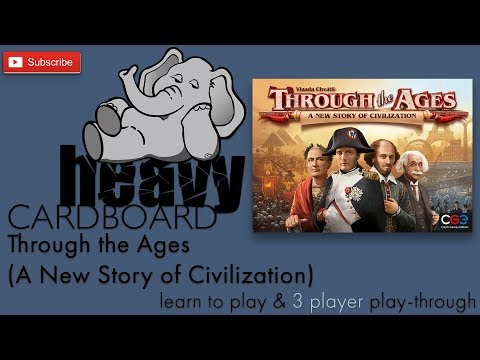 3-player Through the Ages Teaching & full Play-through by Heavy Cardboard