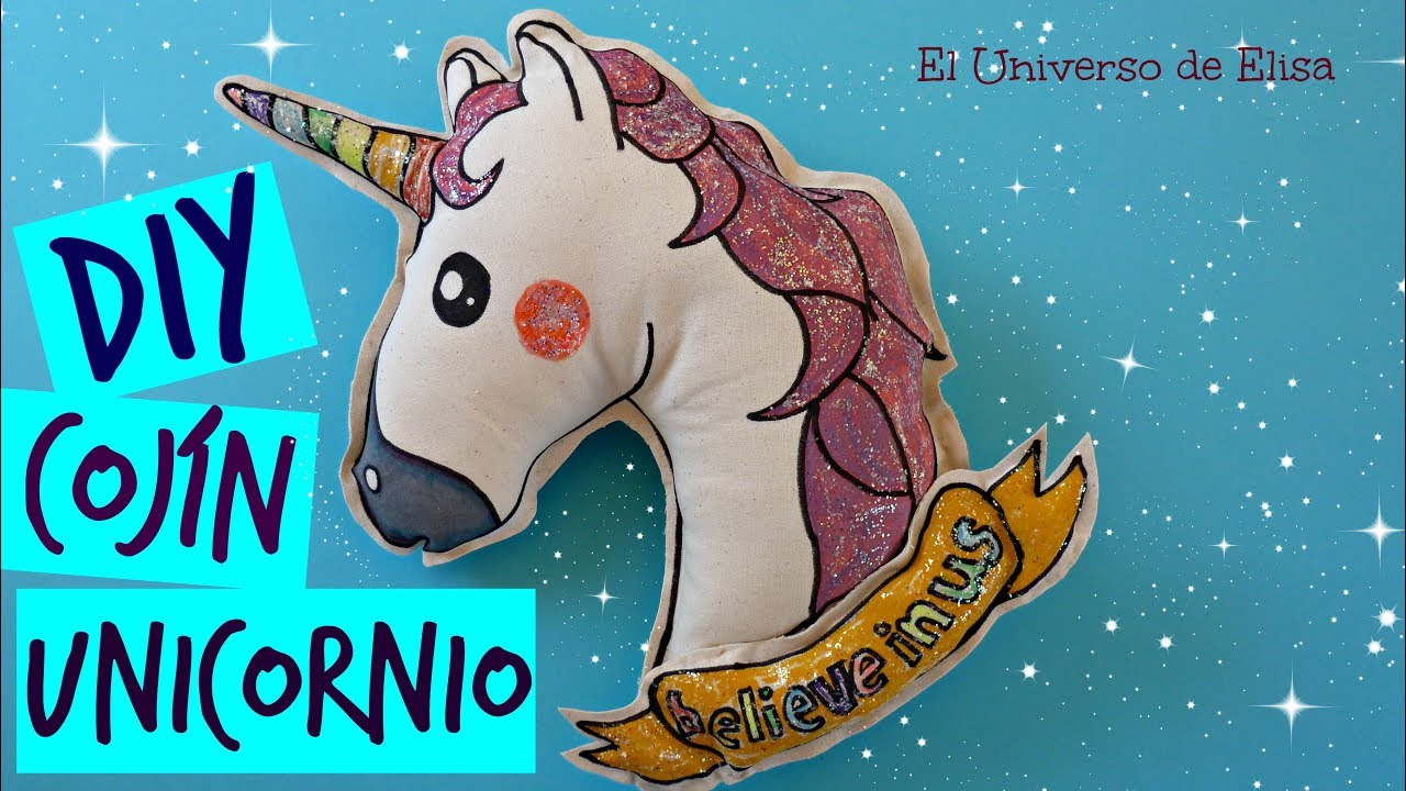 DiY, Como hacer un Cojín Unicornio Emoji, How To Make A Unicorn Pillow, Unicorn Emoji Pillow