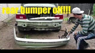 How to remove the rear bumper on a Bmw E39