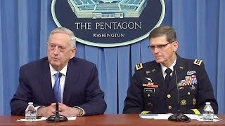 Sec. Mattis Press briefing from the Pentagon. April 11, 2017. Syria.