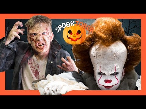 """Extreme Halloween Makeover: """"It"""" & The Walking Dead"""