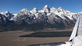 On approach to Jackson Hole Airport
