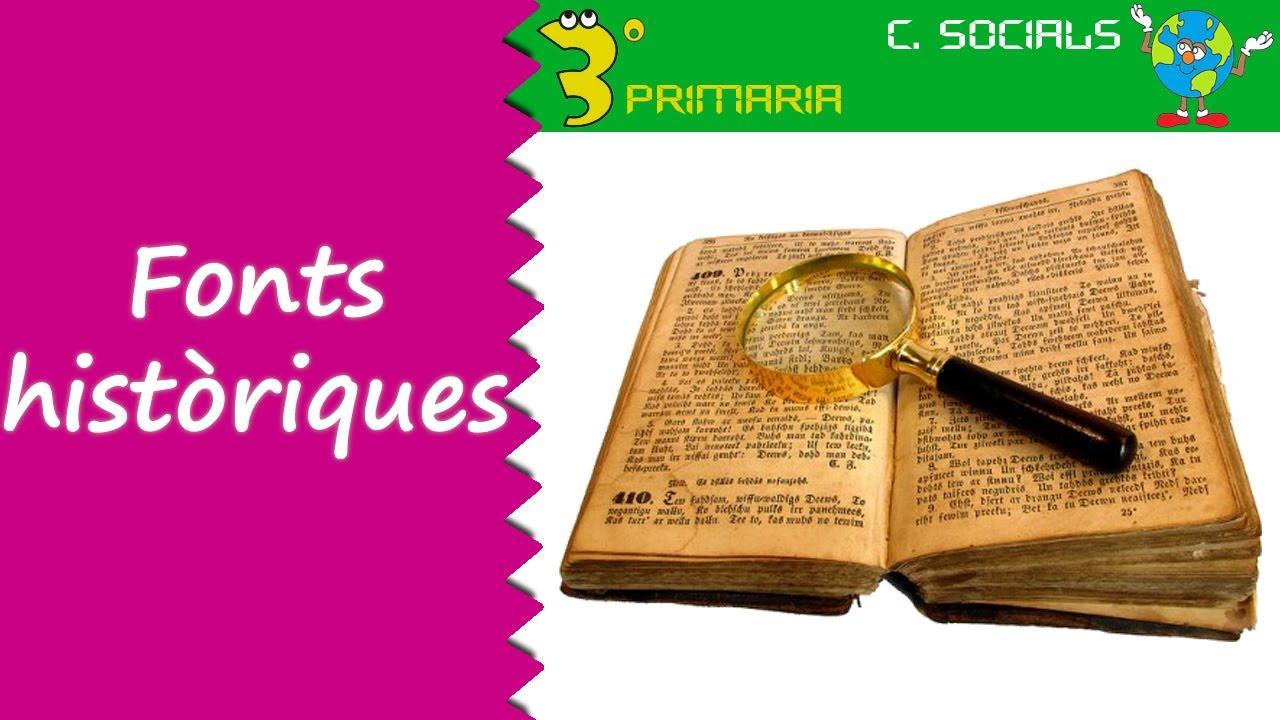 Ciències Socials. 3r Primària. Tema 8. Les fonts històriques