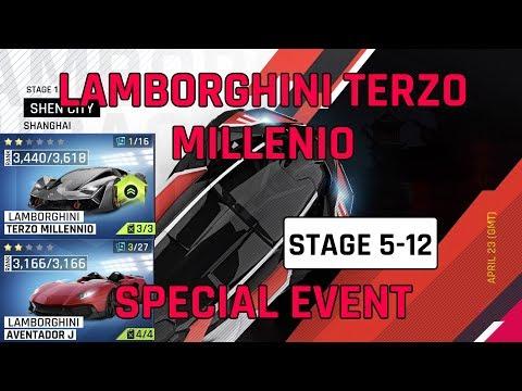 Estágio 5-12 Lamborghini Guia do Evento Especial Terzo Millenio
