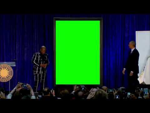 Obama Portrait Green screen