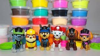 Мультики Учим цвета с Щенячий патруль и Разноцветным пластилином Развивающие видео для детей