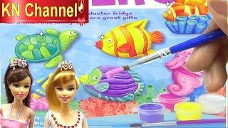 BÉ NA LÀM TƯỢNG VÀ TÔ TƯỢNG TUYỆT ĐẸP Đồ chơi trẻ em mới của KN Channel