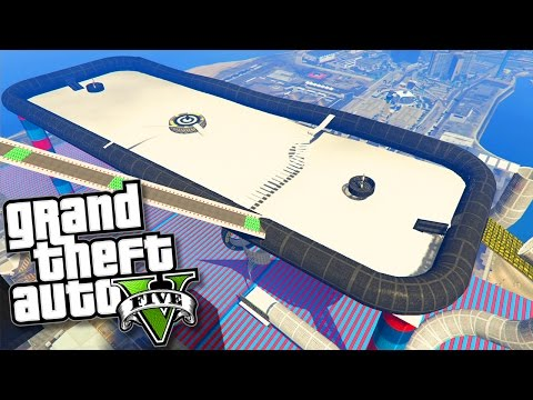 GTA V Online: CORRIDA INSANA na MESA de AIR HOCKEY GIANT!!