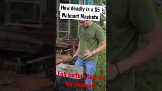 How Deadly is a $5 Walmart Machete???