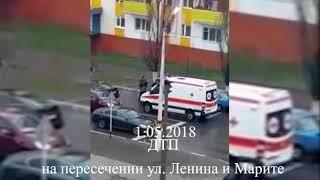 СРОЧНО! Очередное ДТП в Рудном - сбили девушку. (ул. Ленина - Марите)