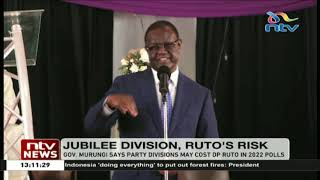 Governor Murungi claims wrangles in Jubilee might cost DP Ruto the presidency in 2022