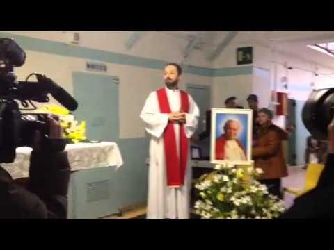 La reliquia di Papa Giovanni Paolo II In carcere