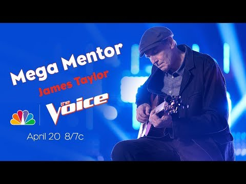 James Taylor is the Mega Mentor on The Voice Knockouts, 4/20/20