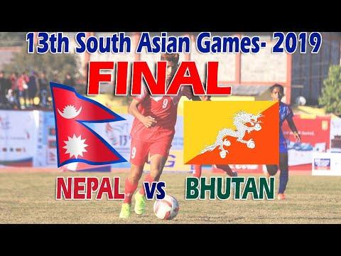 Nepal Vs Bhutan FootBall Final match live || 13 th South Asian game 2019