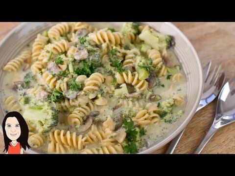 Video One Pot Creamy Mushroom Pasta Recipe - Dairy Free!
