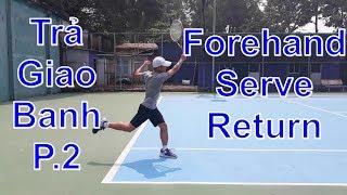 Kỹ Thuật Trả Giao Banh Thuận Tay P.2 | Forehand Serve Return Tennis