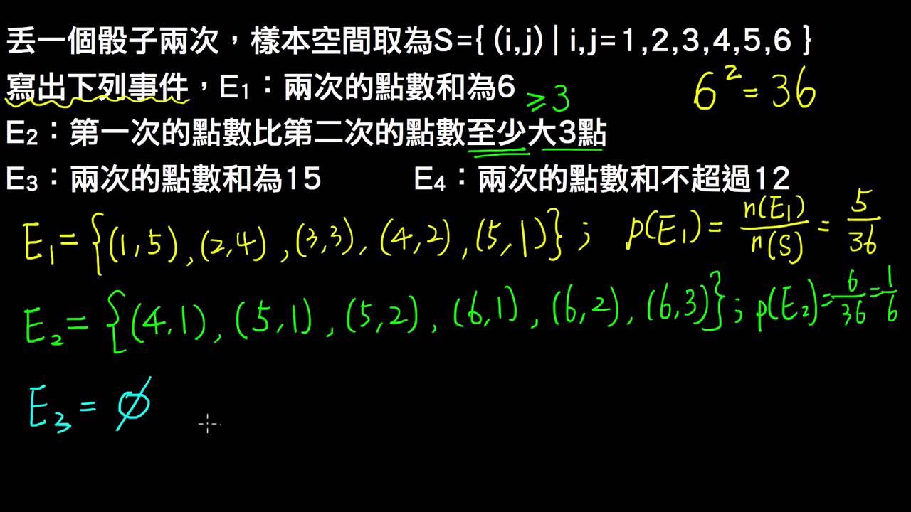 高一下數學3-1例題04事件、全事件、空事件   樣本空間與事件   均一教育平臺