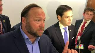 Marco Rubio and Alex Jones clash on Capitol Hill